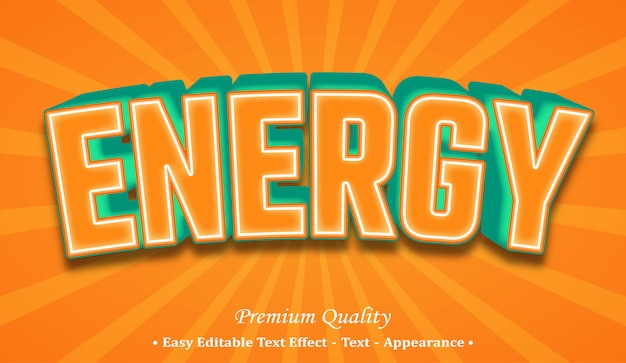 Energy  font style effect