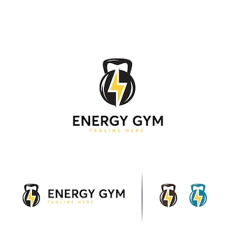 Energy gym logo template