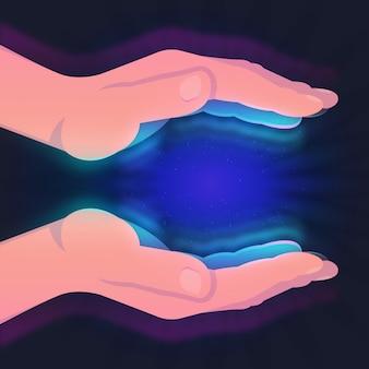 エネルギー癒しの手のコンセプト