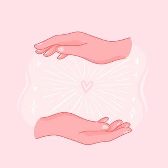Иллюстрация руки исцеления энергии