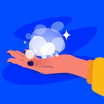 Energy healing hands