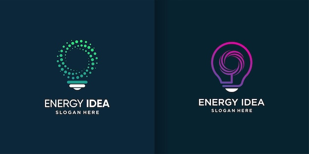 다른 요소 개념 에너지 아이디어 로고 템플릿 premium 벡터