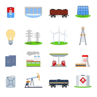 Energy industry icons