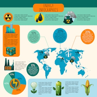 Набор энергетической инфографики