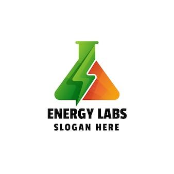 Energy labs gradient logo template