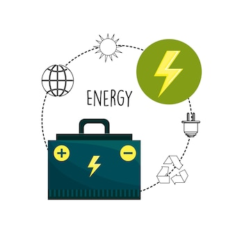 Energy logger and environment care icons