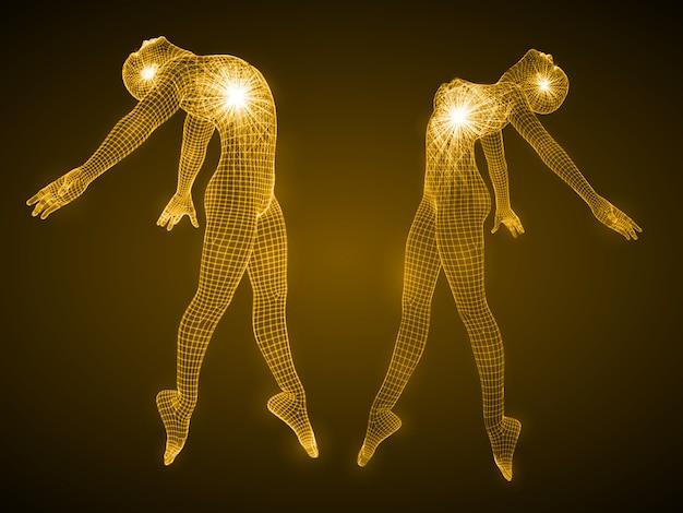 Энергия танцующих мужских и женских фигур.