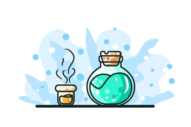 Energy potion illustration hand drawing
