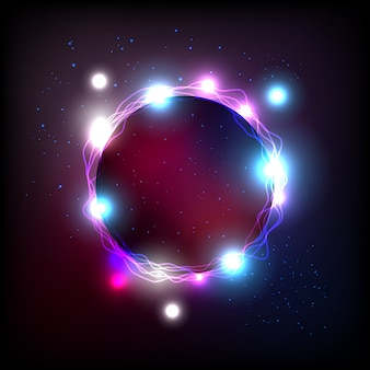 Energy ring in universe and effect aura