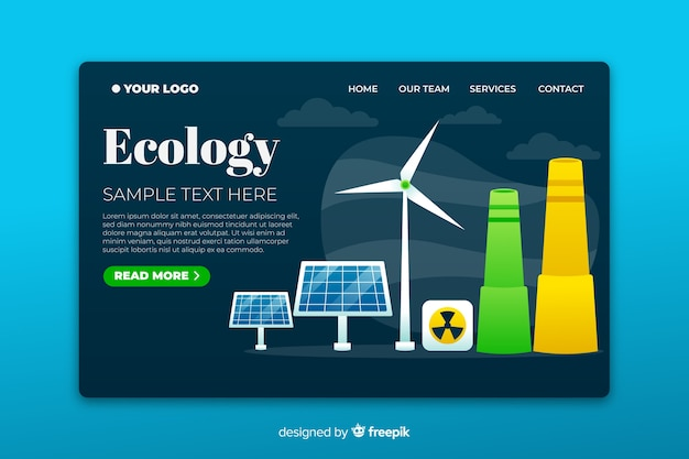 Energy saving by different methods landing page