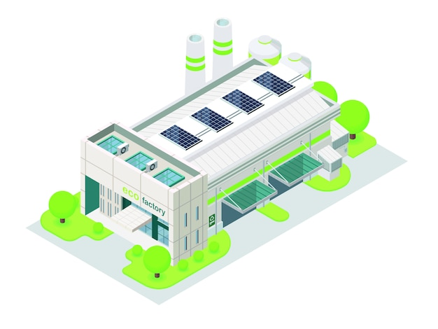 Energy saving factory green looking