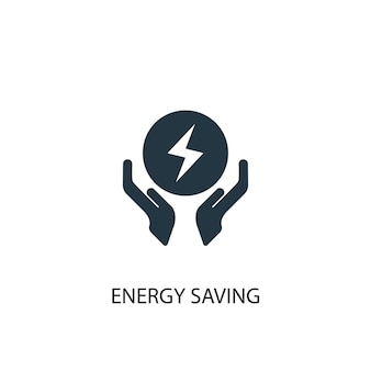 Energy saving icon. simple element illustration. energy saving concept symbol design. can be used for web and mobile.