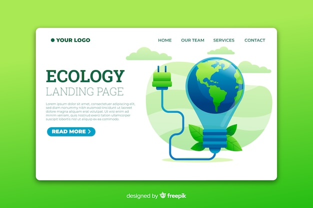 Energy saving landing page