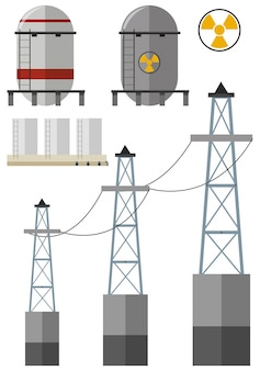 Energy set with fuel tank and electricity wires