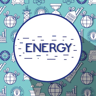 Energy technology tools background design background