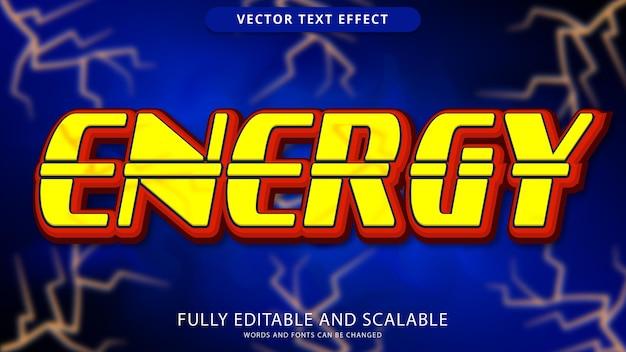 Energy text effect editable eps file
