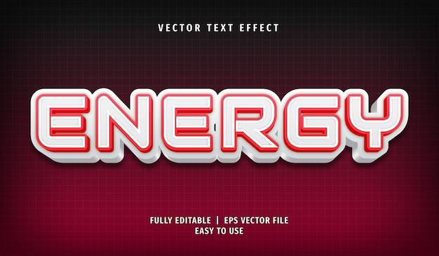 Energy text effect editable text style