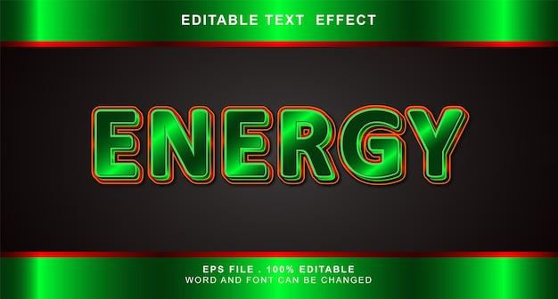 Energy text effect editable