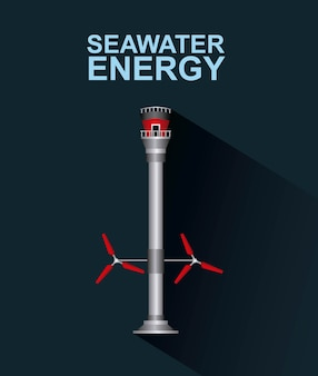 Энергии возобновляемых источников энергии морской воды Premium векторы