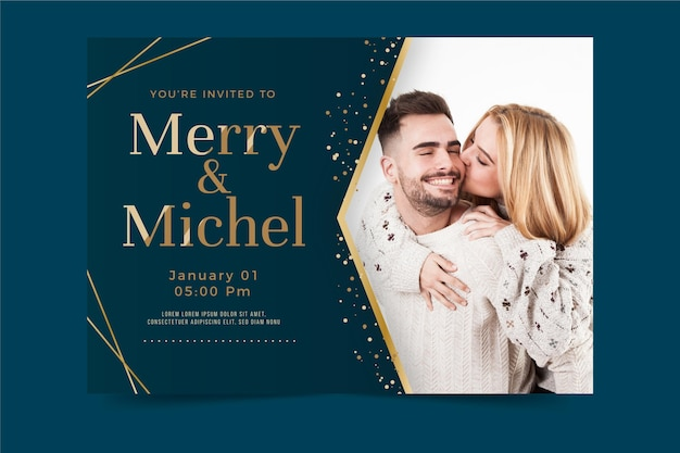 Engagement invitation template theme