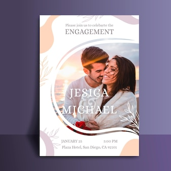 Шаблон приглашения на помолвку с фото