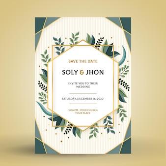 Engagement invitation with elegant motifs