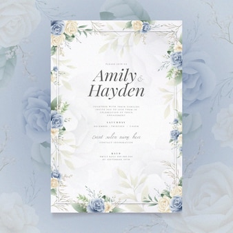 Engagement invitation with floral motif