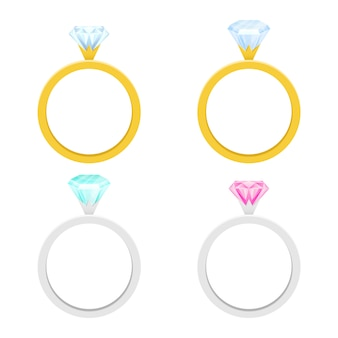 Engagement ring   illustration  on white background