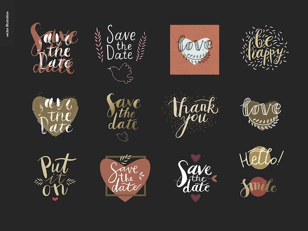 Engagement and wedding lettering