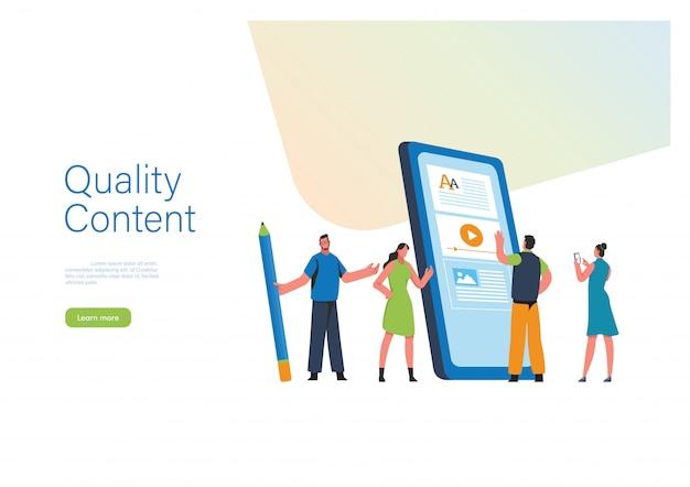 Engaging content illustration