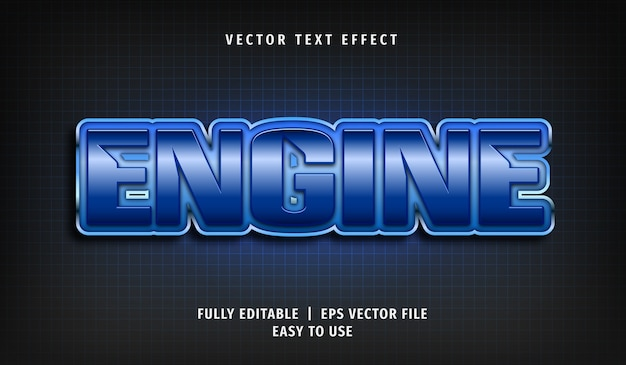 Engine text effect, editable text style
