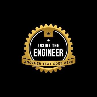 Engineer gear badge logo template