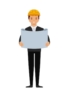 Engineer man cartoon icon