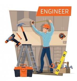 Engineer profession of construction industry