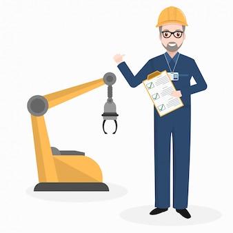 Engineer and robot machine