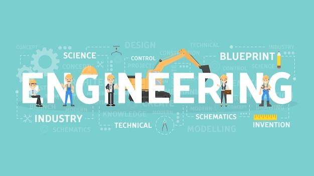 Инженерные концепции иллюстрации.