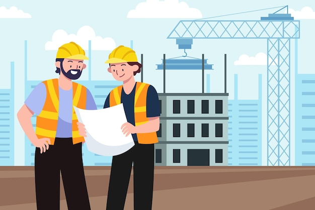 Engineering and construction illustration