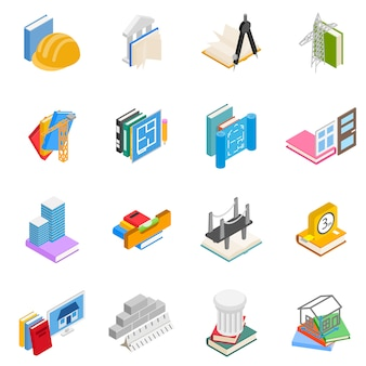 Engineering research icon set