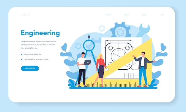Engineering web banner or landing page