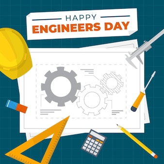 Engineers day with plans
