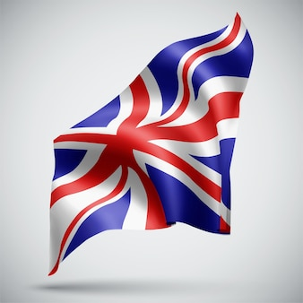 영국, 흰색 배경에 고립 된 3d 플래그