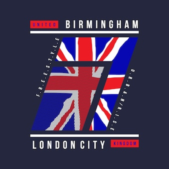 England flag graphic t shirt