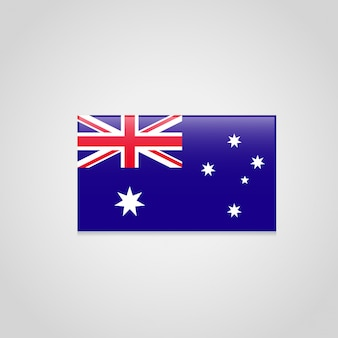 Флаг англии в стильном векторном дизайне