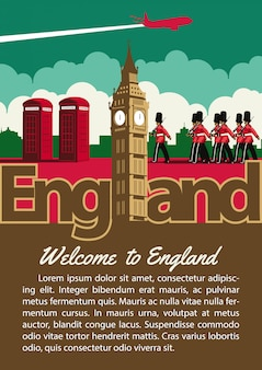 England landmark brochure in typography
