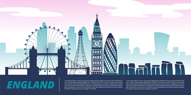 England landmark illustration