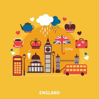 England landmarks composition