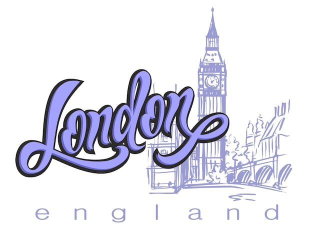 England, london. lettering.