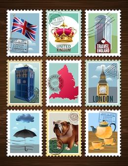 Набор плакатов англии