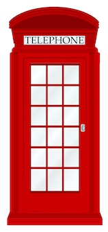 England telephone booth on a white background