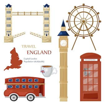 England travel landmarks collection